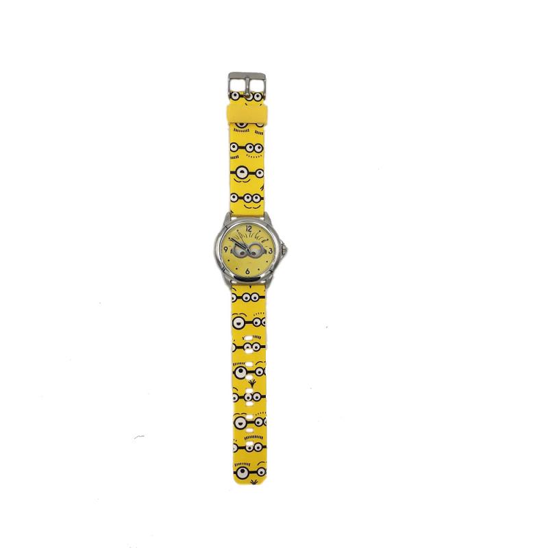 Ceas analogic galben cu caseta de plastic Minions