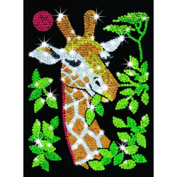 Sequin art-set creativ Girafa