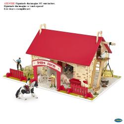Decor pentru animale de ferma realizat din lemn - Figurine Papo