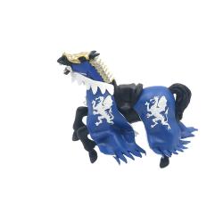 Calul regelui cu blazon dragon (albastru) - Figurina Papo