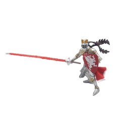 Figurina Papo-Rege cu blazon dragon (rosu)