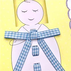 Felicitare 3D Bebelus beietel deosebita