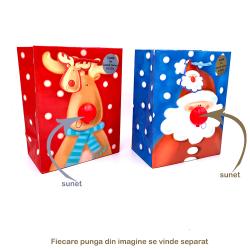 Punga cadou iarna cu nas sonor Santa&Reindeer