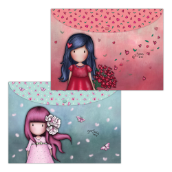 Set 2 mape PP A4 Gorjuss Cherry Blossom & Love Grows