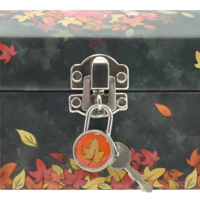 Lacatel Caseta bijuterii cu lacatel Gorjuss-Autumn Leaves