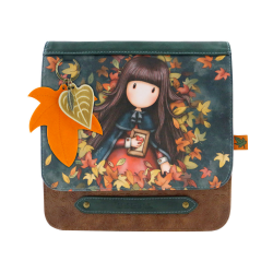 Geanta fashion cu clapeta Gorjuss-Autumn Leaves, importator
