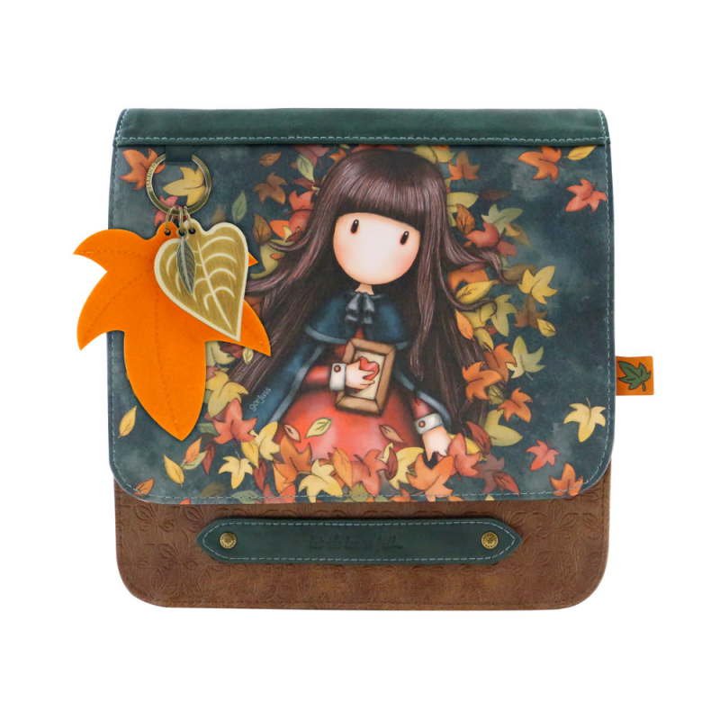 Geanta fashion cu clapeta Gorjuss-Autumn Leaves, importator