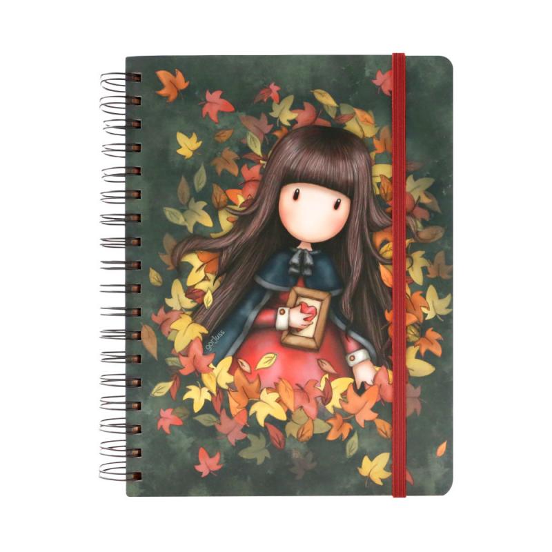Agenda cu spira mare Gorjuss - Autumn Leaves
