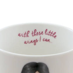 Cana mare Gorjuss-Little Wings- text interior- with these little wings I can...