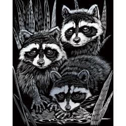 Set gravura pe folie argintie Ratoni importator