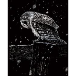 Set gravura pe folie argintie Ninsoare noaptea importator