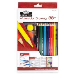 Set invata sa pictezi 33 piese acuarela+desen