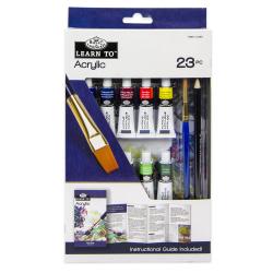 Set invata sa pictezi 23 piese-acrilic importator