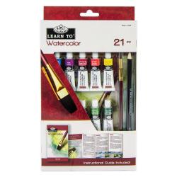 Set invata sa pictezi 21 piese-acuarela importator