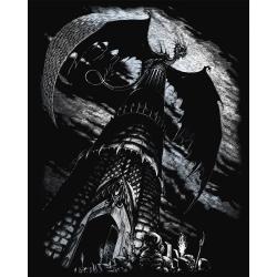 Set gravura pe folie argintie Turnul dragonului importator