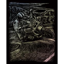 Set gravura pe folie holografica Motocicleta