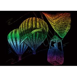 Set gravura pe folie curcubeu mica Baloane