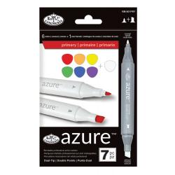 Set 7 markere Royal Langnickel Azure Culori primare ilustratii