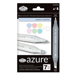 Set 7 markere Royal & Langnickel Azure Culori pastel