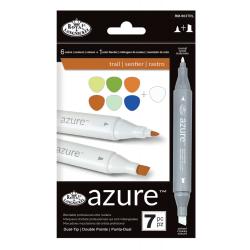 Set 7 markere Royal Langnickel Azure Dual Trail color peisagistica