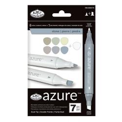 Set 7 markere Royal & Langnickel Azure Culori piatra peisagistica