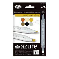 Set 7 markere Royal Langnickel Azure Culori rustice