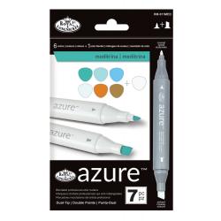 Set 7 markere Royal Azure Culori metrina