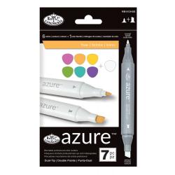 Set 7 markere Royal & Langnickel Azure Nuante pentru profesionisti