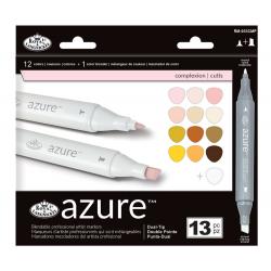 Set 13 markere Azure Dual Culori complexe pentru manga