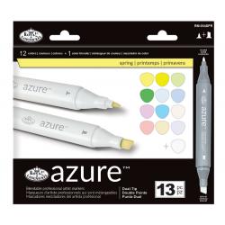 Set 13 markere Azure Dual Culori primavara pentru manga