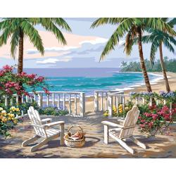 Pictura pe numere master Vedere de coasta importator