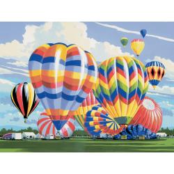 Pictura creativa pe numere avansati Baloane cu aer cald