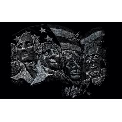 Set gravura incepatori, locuri celebre, Muntele Rushmore