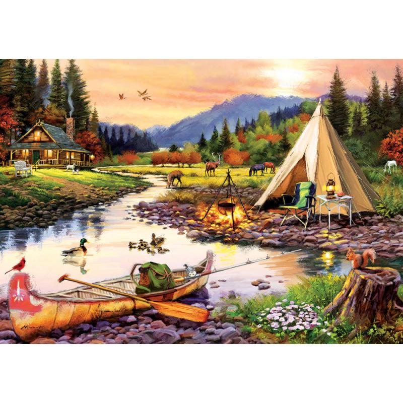 Puzzle 3000 piese Camping Friends pentru tine si prietenii tai