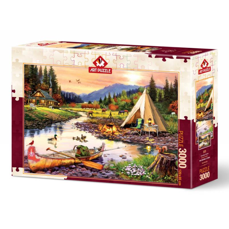 Puzzle 3000 piese Camping Friends importator Jad Flamande