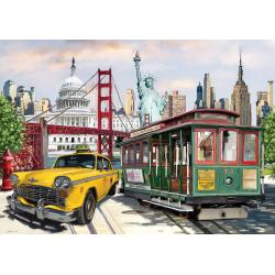Puzzle 2000 piese U.S.A. Collage pentru intreaga familie