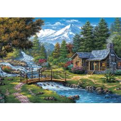 Puzzle 2000 piese Two Cascades pentru prieteni si familie