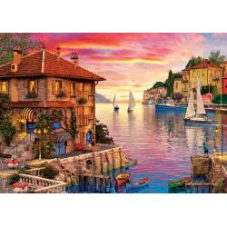 Ouzzle 1500 piese The Mediterranean Harbour pentru toata familia