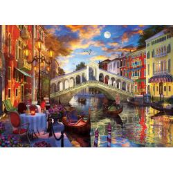 Puzzle 1500 piese Rialto Bridge Venice pentru intreaga familie