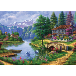 Puzzle 1500 piese Village By Lake pentru tine si prietenii tai