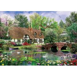 Puzzle 1000 piese Water Lilies pentru intreaga familie