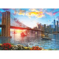 Puzzle 1000 piese Sunset On New York pentru intreaga familie