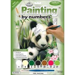 Prima mea pictura pe numere junior mic - Panda cu pui Jad Flamande