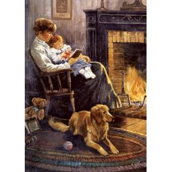 Puzzle 1000 piese Nostalgia Bedtime Story pentru intreaga familie