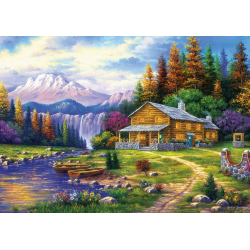 Puzzle 1000 piese Sunset On The Mountains pentru intreaga familie