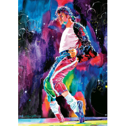 Puzzle 1000 piese Michael Jackson Moonwalk-David Lloyd Glover pentru intreaga familie