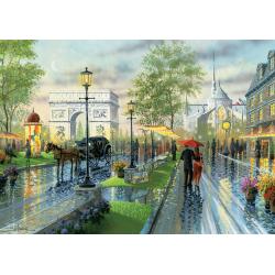 Puzzle 1000 piese Spring Walk, Paris-Ken Shotwell pentru intreaga familie