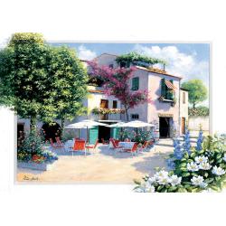 Puzzle 500 piese - Cafe Villa-Peter Motz pentru intreaga familie