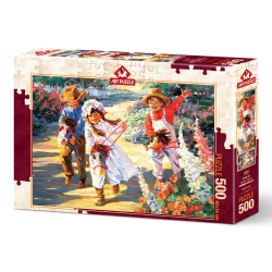 Puzzle 500 piese - Giddy Up! -Corinne Hartley importator Jad Flamande