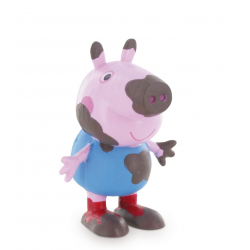 Figurina Comansi Peppa Pig George on the mud